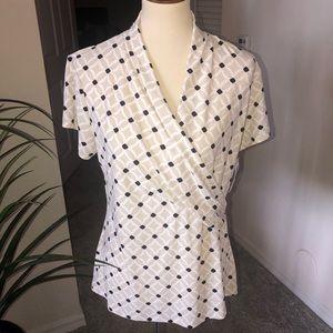 🆕 CHARTER CLUB blouse faux wrap